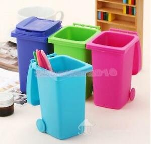 Mini curbside trash can wastebasket garbage bin colourful - How to decorate a dustbin ...