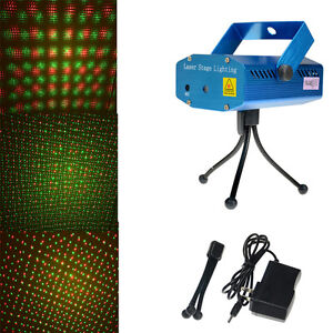 Mini-DJ-Party-LED-Laser-Disco-Projector-Buehnenbeleuchtung-Licht-Club