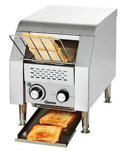 mini durchlauftoaster f r toastscheiben oder hamburger br tchen edelstahltoaster ebay. Black Bedroom Furniture Sets. Home Design Ideas
