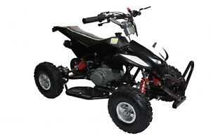 Mini-Moto-QUAD-BIKE-BLACK-49cc-rare-kids-14-2-stroke