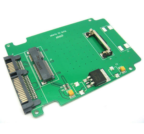 Mini PCIe PCI E mSATA 3x5cm SSD to 2 5 inch SATA Adapter