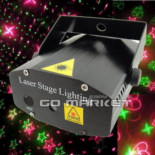 Mini Voice-control Moving Laser Stage Lighting Projector Disco Party DJ Light A2 in Musical Instruments & Gear, Stage Lighting & Effects, Stage Lighting: Single Units | eBay