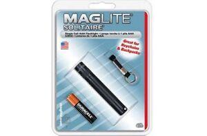 Miniatur-MAG-Taschenlampe-1-AAA-Batterie-Schwarz-Mit-Band-Kompakt
