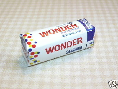 "Miniature ""Squooshy"" Wonder Bread Loaf for DOLLHOUSE 1/12 Scale Miniatures in Dolls & Bears, Dollhouse Miniatures, Miniatures 