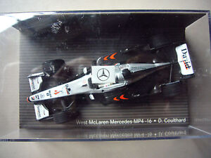 Minichamps - West McLaren Mercedes MP4-16 David Coulthard B6 696 1942 1:43 OVP - <span itemprop='availableAtOrFrom'>My Home, Deutschland</span> - Minichamps - West McLaren Mercedes MP4-16 David Coulthard B6 696 1942 1:43 OVP - My Home, Deutschland