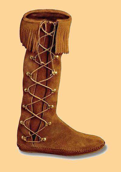 minnetonka womens 1572 brown suede side lace hardsole knee