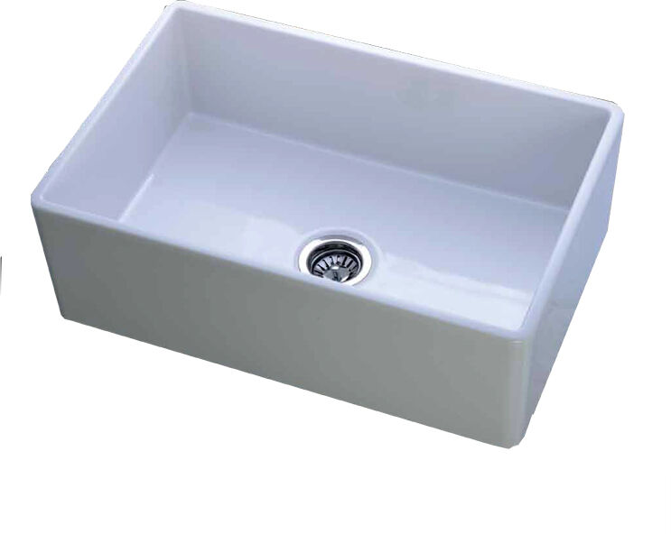 Fire Clay Sinks : Details about Mitrani Fireclay Farmhouse Sink 30 x 20 x 9 large single ...