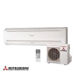 mitsubishi split klimaanlage inverter srk 25 w rmepumpe ebay. Black Bedroom Furniture Sets. Home Design Ideas