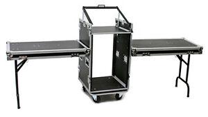 Mobile Dj Sound System Ata Case 16u Rack 10u Mix Top With