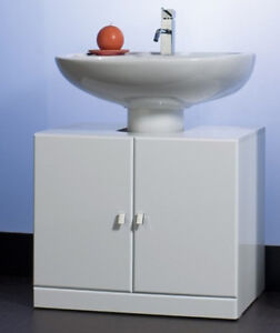 mobiletto sottolavabo ikea : Mobile da bagno arredo copricolonna copri colonna bianc eBay