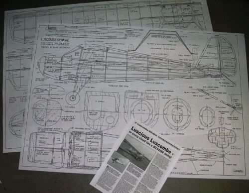 1//5 Scale Luscombe Silvaire  Giant Scale RC AIrplane Rolled Plans