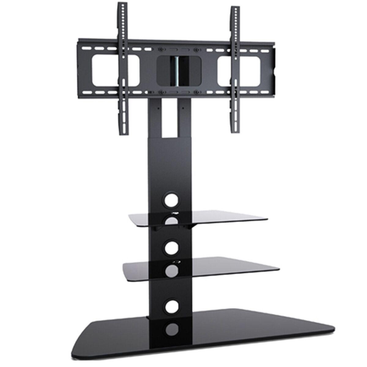 Modern 3 Shelf Tier Black Glass Tv Stand Mount 42 50 55 70 Inch