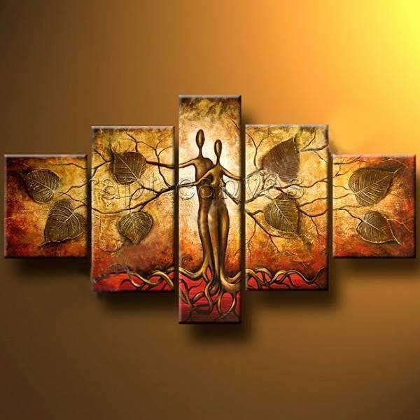Modern abstract art oil painting wall decor large canvas for Abstract decoration