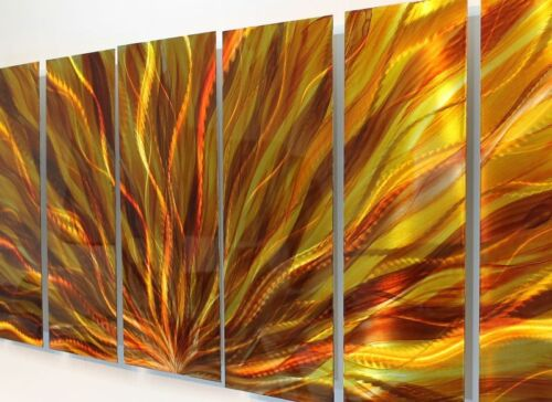 Modern Abstract Metal Wall Art Sculpture Celestial Fire By Artist Jon Allen in Art, Direct from the Artist, Paintings | eBay