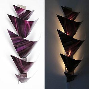 Purple Metal Wall Art metal wall art torchiere lamp painting home decor purple ebay