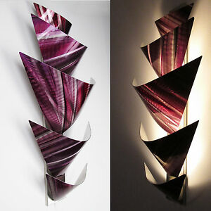 Abstract Metal Wall Art Torchiere Lamp Painting Sculpture Home Decor