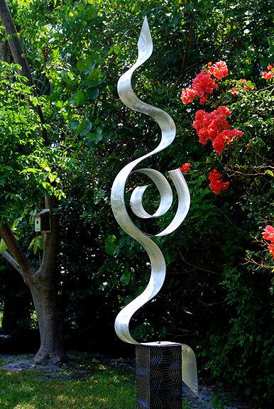 "Modern Abstract Outdoor Painted Metal Art Sculpture ""Looking Forward"" Jon Allen"
