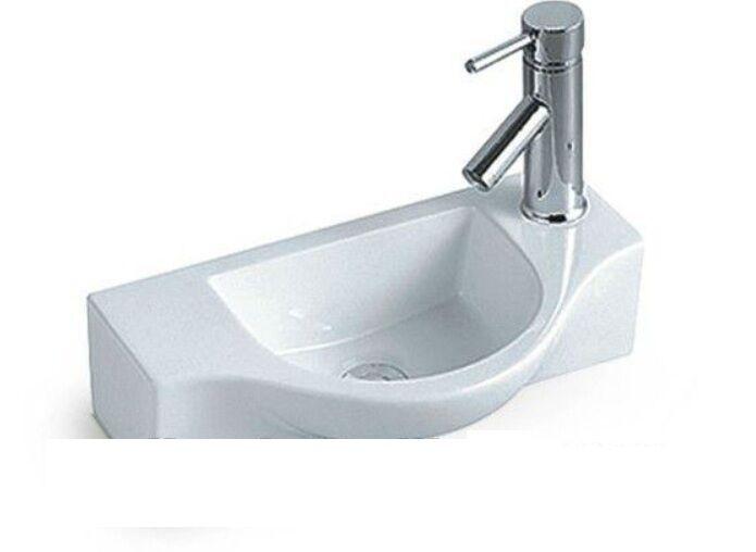 Small compact slimline ceramic cloakroom basin sink 450mm ebay