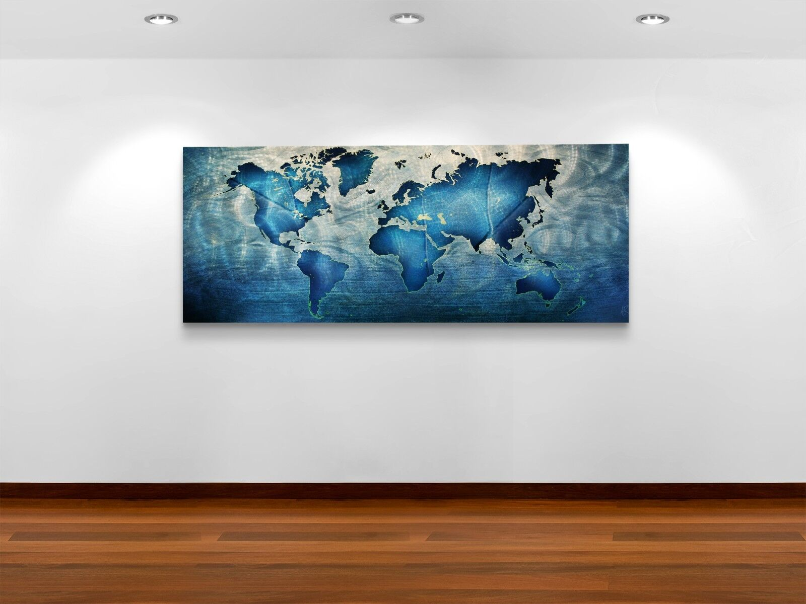 Beautiful Modern Metal Wall Hangings For Your Home: Modern Map Wall Art Contemporary Metal Abstract WOW Factor