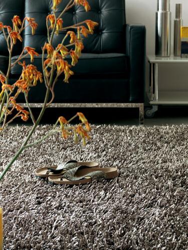 Modern area rug large silk shag flokati silver gray 5x8 contemporary rug in Home & Garden, Rugs & Carpets, Area Rugs | eBay