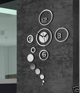 Moderne-Wanduhr-Design-Wandtattoo-Dekoration-Uhren-NEU-Spiegel-Geschenk