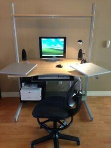 Modular Computer Desk Ikea Jerker Set W Chair Ebay