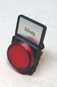Moeller-RMQ22-Leuchtmelder-Vorsatz-Rot-mit-Einlegeschild
