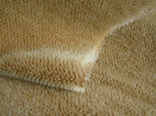 Mohair FAT 1/4 yard ~ 5mm Sparse Straight ~ Old Ivory w/Dark ~ Teddy Bear Fabric in Dolls & Bears, Bear Making Supplies | eBay