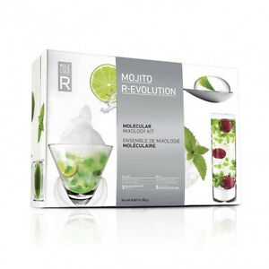 Cocktail R-Evolution By Molecule-R Time for a home bar revolution. This kit will bring burst-in-your-mouth cocktail spheres and drinks topped with beautiful, airy foams into your mixology routine, all thanks to plant-based additives and a few specialized but user-friendly tools.