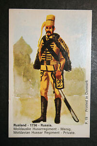 Moldavian-Hussar-Regiment-Russian-Army-circa-1756-Illustrated-Card-VGC