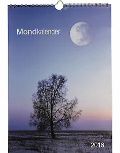 mondkalender 2016 wandkalender ringbindung mit mondphasen. Black Bedroom Furniture Sets. Home Design Ideas