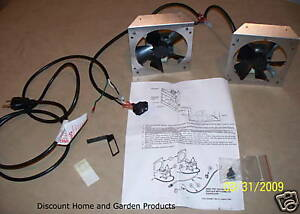 Monessen Circulating Wood Fireplace Blower Fan Kit FA2A of ...