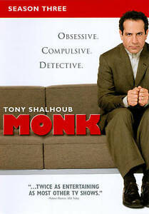 Monk - Season 3 (DVD, 2010, 4-Disc Set)
