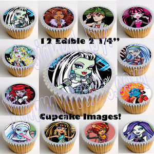 Monster-High-2-25-Edible-Image-Cup-Cake-Toppers-12pcs-cut-paste-no-peel