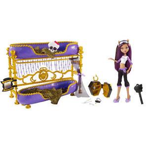 Monster High Dead Tired Clawdeen Wolf Doll Bunk Bed Set Ebay
