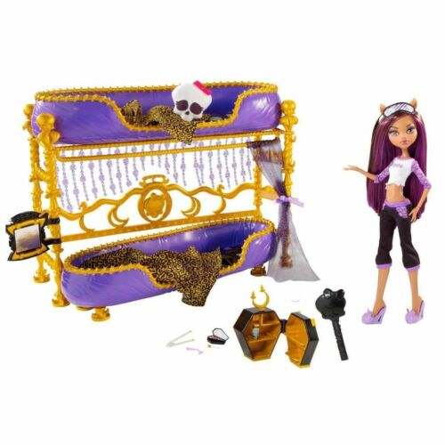 Monster High Dead Tired Clawdeen Wolf Doll & Bed Playset Bunk Bed Room howl NEW in Dolls & Bears, Dolls, By Brand, Company, Character | eBay