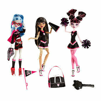 Monster High FEAR SQUAD 3 Doll Cheer Set TEAM SPIRIT