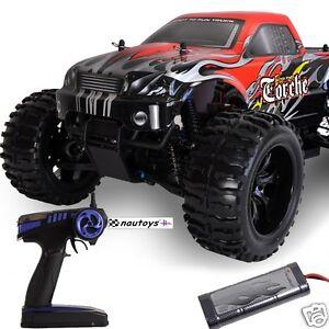 Monstertruck-2-4GHz-Torche-4WD-RTR-Set-mit-Pistolensender-M-1-10-von-Amewi