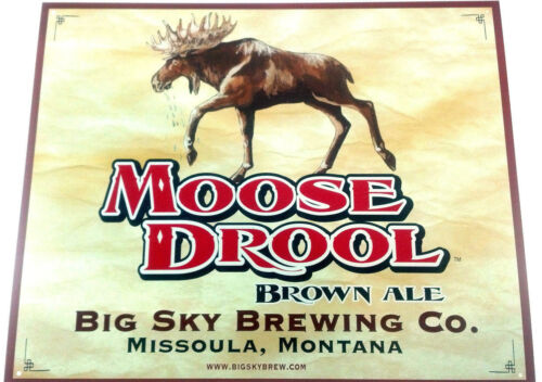 Moose Drool - Big Sky Brewing - Metal Beer Sign ( Tin Tacker ) New! in Collectibles, Breweriana, Beer, Signs, Tins | eBay