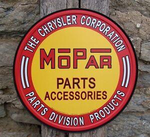 Mopar chrysler car parts vintage style tin sign ad retro for Vintage garage signs uk