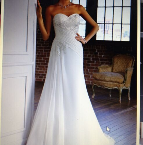 Mori Lee Blu Style 4804 Tag size 20 (fits Size 16) NWT in Clothing, Shoes & Accessories, Wedding & Formal Occasion, Wedding Dresses | eBay