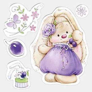 motiv stempel bunny and plums h schen mit pflaumen hase scrapberrys scb4902007 ebay. Black Bedroom Furniture Sets. Home Design Ideas