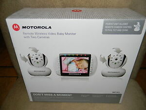 motorola mbp36 2 remote wireless digital color video baby monitor w two cameras. Black Bedroom Furniture Sets. Home Design Ideas