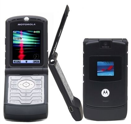 Motorola V3 RAZR Black GSM Unlocked New Camera Phone! AT&T T-Mobile in Cell Phones & Accessories, Cell Phones & Smartphones | eBay