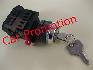 Motorschalter-Schluesselschalter-230-Volt-Maschinenschalter-Schlossschalter