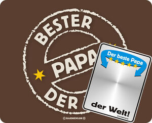 mousepad und spiegelschild set bester papa der welt vater. Black Bedroom Furniture Sets. Home Design Ideas
