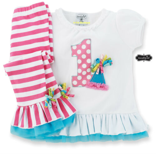 Mud Pie Baby Girls Birthday Party I am One Tunic & Striped Leggings Set 12-18M in Clothing, Shoes & Accessories, Baby & Toddler Clothing, Girls' Clothing (Newborn-5T) | eBay