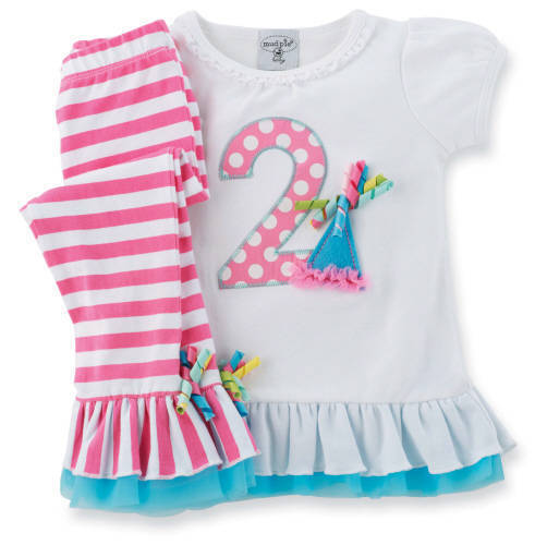Mud Pie Birthday Wishes I'm 2 Tunic Legging Set Size 2T NWT in Clothing, Shoes & Accessories, Baby & Toddler Clothing, Girls' Clothing (Newborn-5T) | eBay