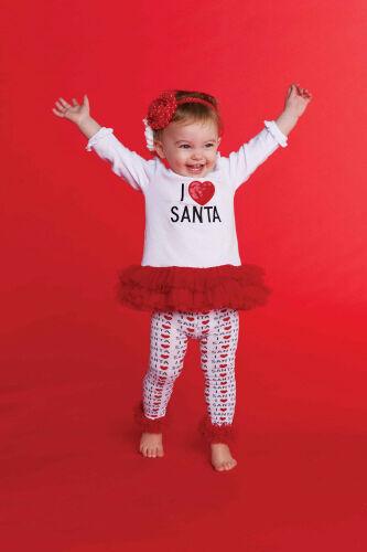Mud Pie Christmas Baby Infant Girls I Love Santa Tunic & Leggings 0 - 18M 2T 3T in Clothing, Shoes & Accessories, Baby & Toddler Clothing, Girls' Clothing (Newborn-5T) | eBay