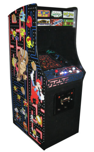 "Multigame Arcade Machine - 19"" LCD - LED Buttons - Trackball - Classic Art Work in Collectibles, Arcade, Jukeboxes & Pinball, Arcade Gaming 